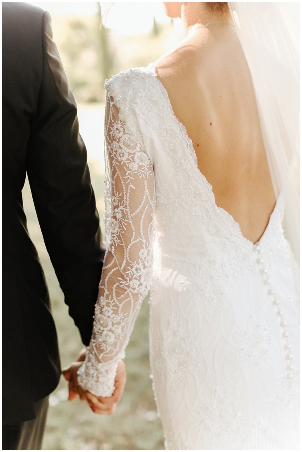 Lace wedding dress - Bride and Groom